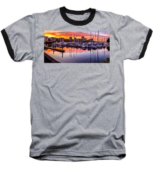 Hdr Sunset On Thea Foss Waterway Baseball T-Shirt