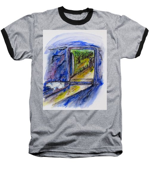 He Is Gone Baseball T-Shirt by Clyde J Kell