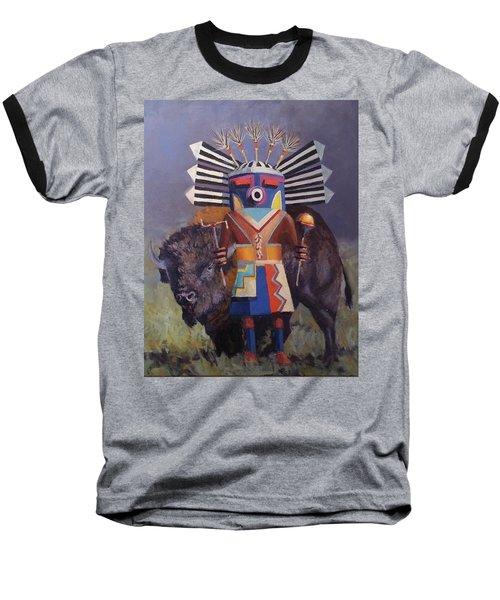 He Runs With The  Buffalo Baseball T-Shirt