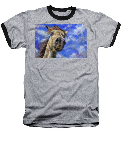 Head In The Clouds Baseball T-Shirt by Billie Colson