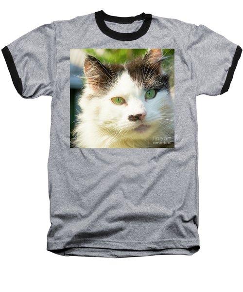 Head Of Cat Baseball T-Shirt