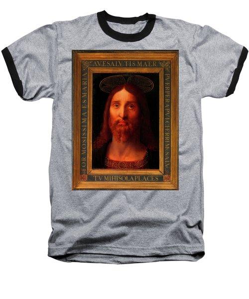 Baseball T-Shirt featuring the painting Head Of Christ                                   by Fernando De La Almedina