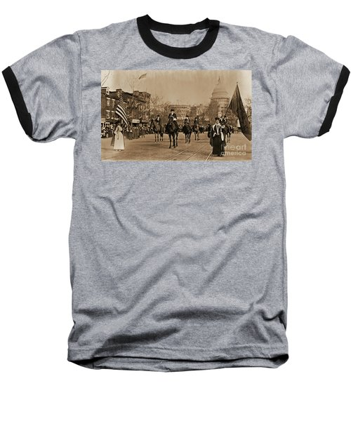 Head Of Washington D.c. Suffrage Parade Baseball T-Shirt by Padre Art
