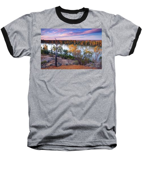 Baseball T-Shirt featuring the photograph Heading Cliffs Murray River South Australia by Bill Robinson