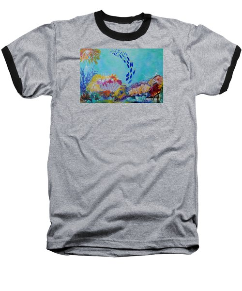 Heading For The Coral Baseball T-Shirt by Lyn Olsen