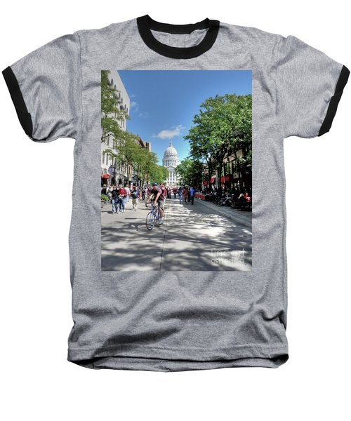 Heading To Camp Randall Baseball T-Shirt by David Bearden