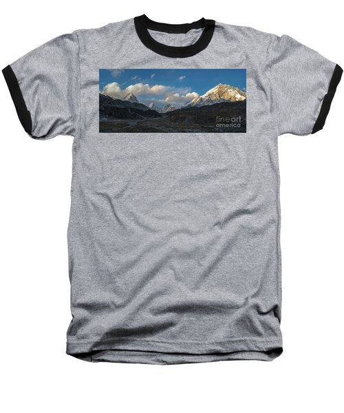 Baseball T-Shirt featuring the photograph Heading To Everest Base Camp by Mike Reid