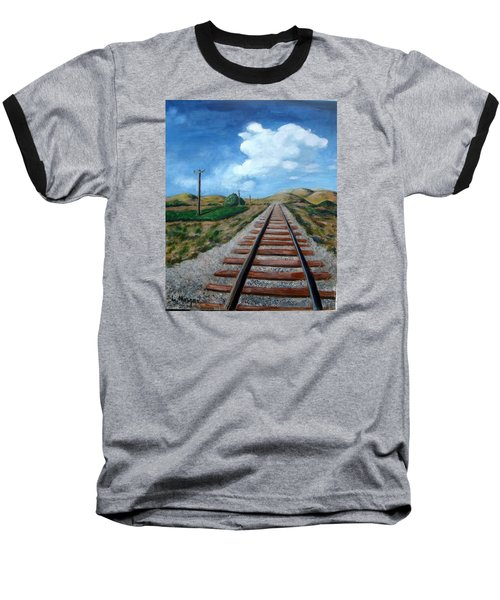 Heading West Baseball T-Shirt by Laurie Morgan