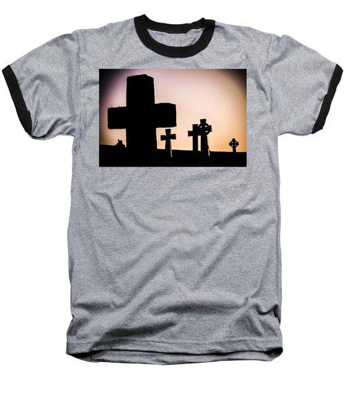 Headstones At Night, Peak District, England, Uk Baseball T-Shirt
