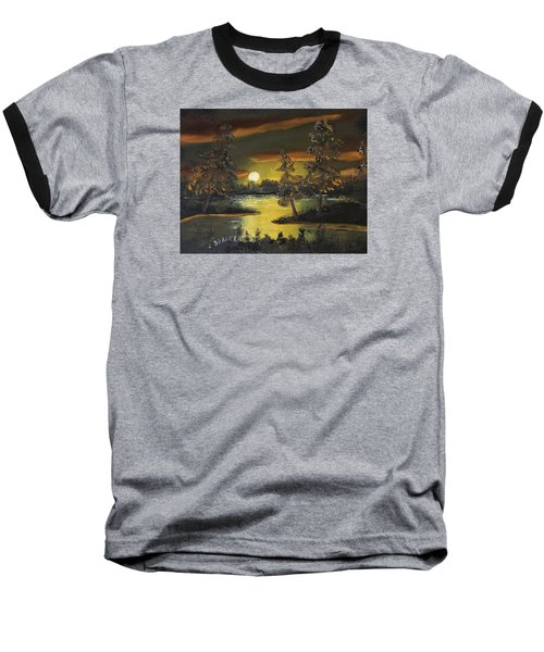 Baseball T-Shirt featuring the painting Headwaters Sunset 160115 by Jack G Brauer