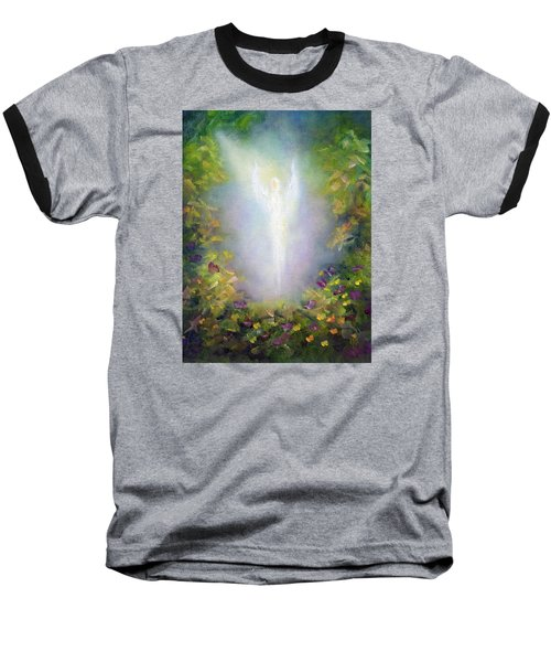 Healing Angel Baseball T-Shirt by Marina Petro