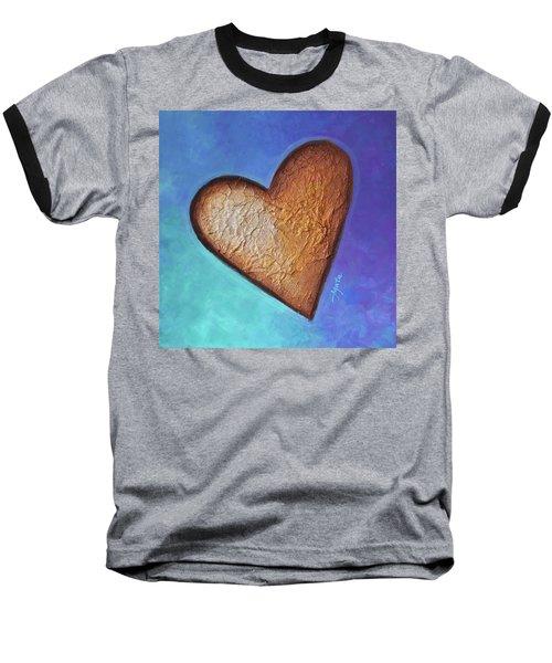Heart Baseball T-Shirt by Agata Lindquist