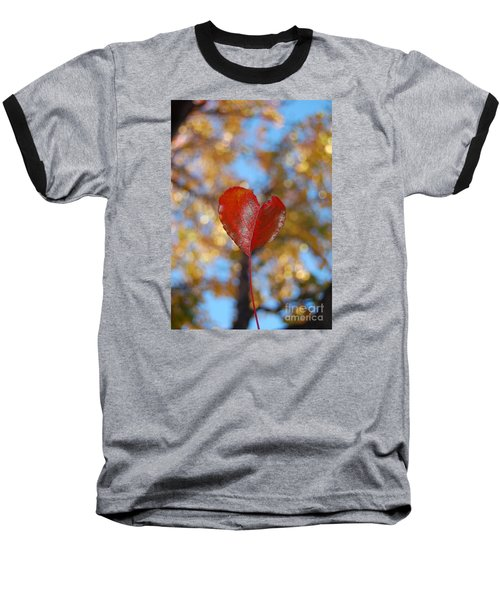 Heart Amongst Tree Top Baseball T-Shirt