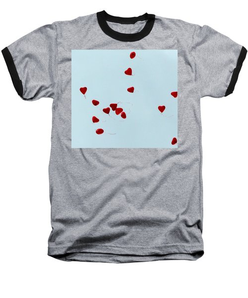 Heart Balloons In The Sky Baseball T-Shirt