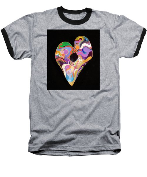Heart Bowl Baseball T-Shirt by Bob Coonts