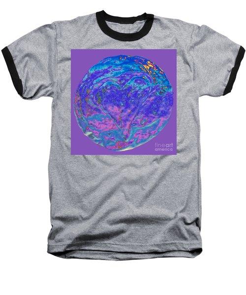 Heart Earth Swirl Baseball T-Shirt