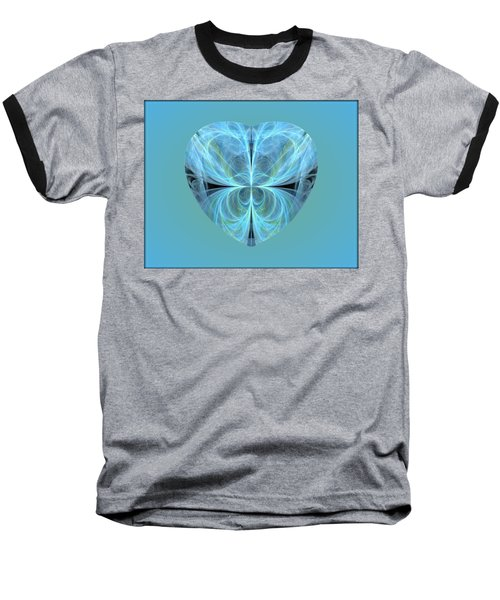 Heart - Ghost Blue Baseball T-Shirt