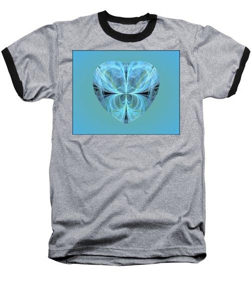 Heart - Ghost Blue Baseball T-Shirt