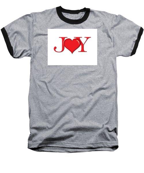 Heart Joy Baseball T-Shirt by Greg Slocum