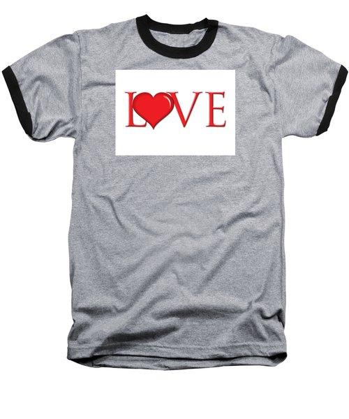 Heart Love Baseball T-Shirt by Greg Slocum