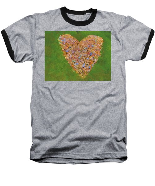 Heart Made Of Stones Baseball T-Shirt
