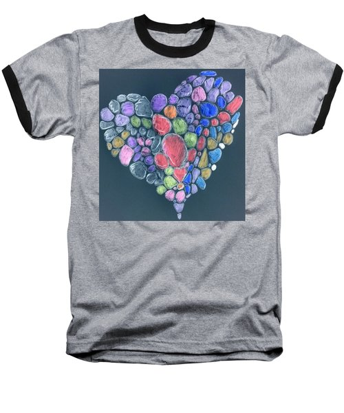 Heart Mosaic Baseball T-Shirt
