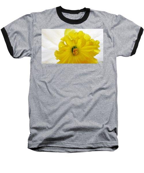 Heart Of A Daffodil  Baseball T-Shirt