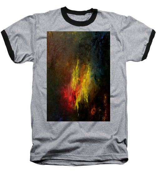 Baseball T-Shirt featuring the painting Heart Of Art by Rushan Ruzaick