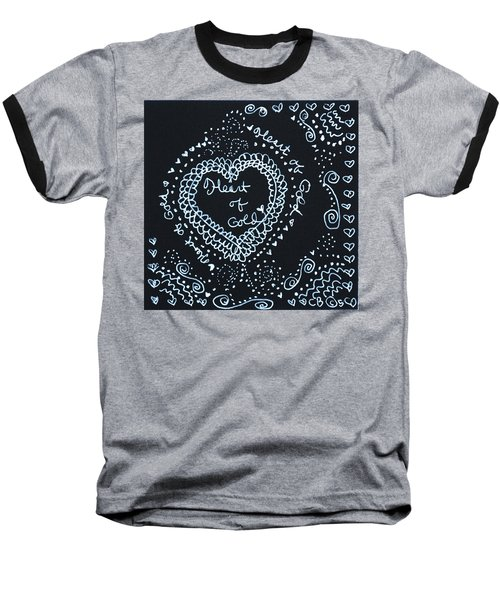 Heart Of Gold Baseball T-Shirt