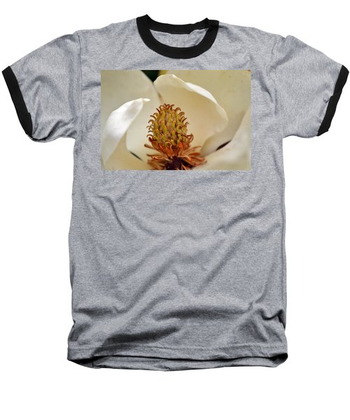 Baseball T-Shirt featuring the photograph Heart Of Magnolia by Larry Bishop