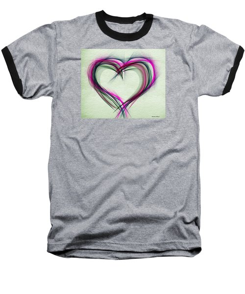 Heart Of Many Colors Baseball T-Shirt