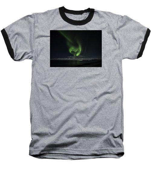 Heart Of Northern Lights Baseball T-Shirt by Frodi Brinks