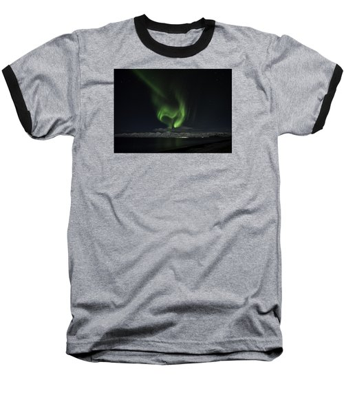 Heart Of Northern Lights Baseball T-Shirt