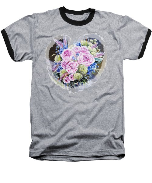 Heart Of Rose Baseball T-Shirt by Vesna Martinjak