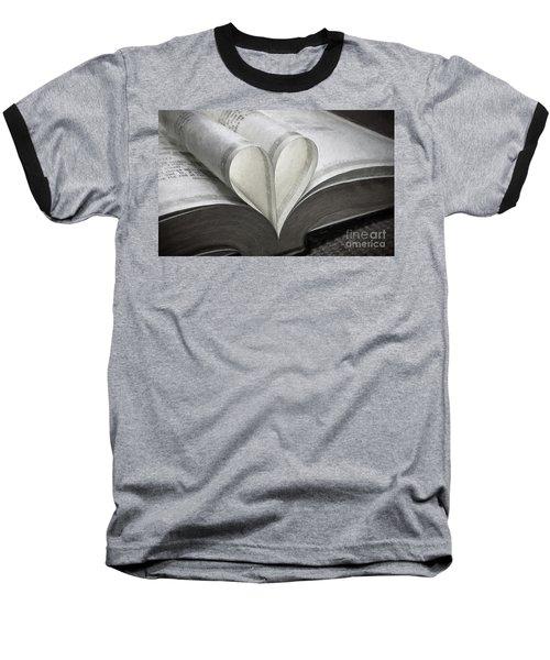 Heart Of The Book  Baseball T-Shirt