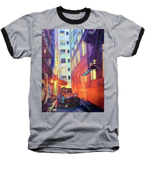 Heart Of The City Baseball T-Shirt by Bonnie Lambert