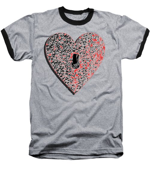 Heart Shaped Lock Red .png Baseball T-Shirt by Al Powell Photography USA