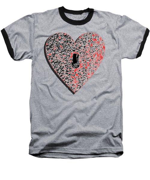 Heart Shaped Lock Red .png Baseball T-Shirt