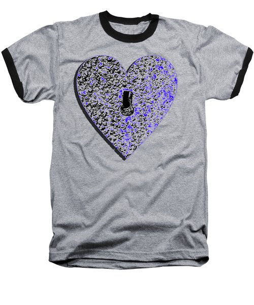 Heart Shaped Lock .png Baseball T-Shirt by Al Powell Photography USA