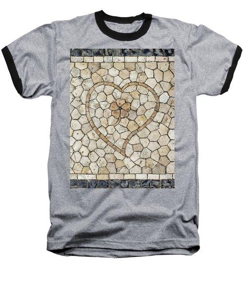 Heart Shaped Traditional Portuguese Pavement Baseball T-Shirt