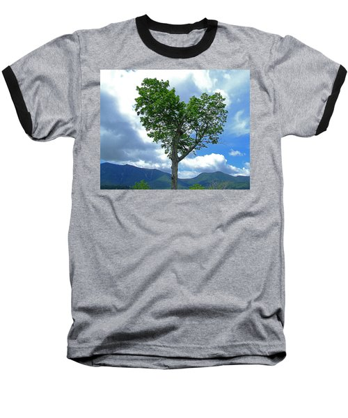 Heart Shaped Tree Baseball T-Shirt