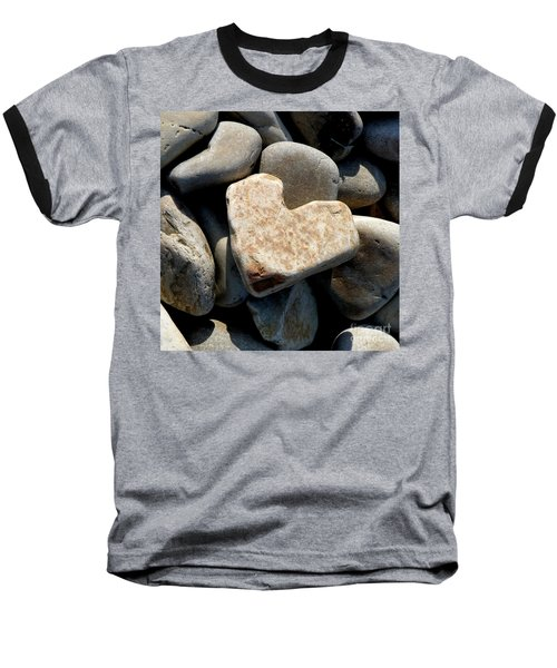Heart Stone Baseball T-Shirt by Lainie Wrightson