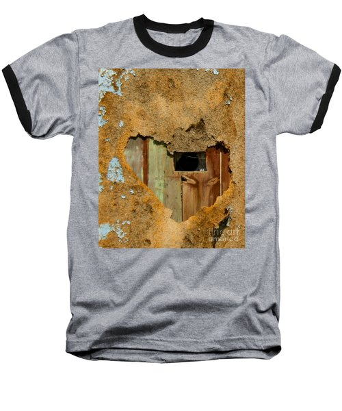 Heart Wall Baseball T-Shirt by Suzanne Lorenz