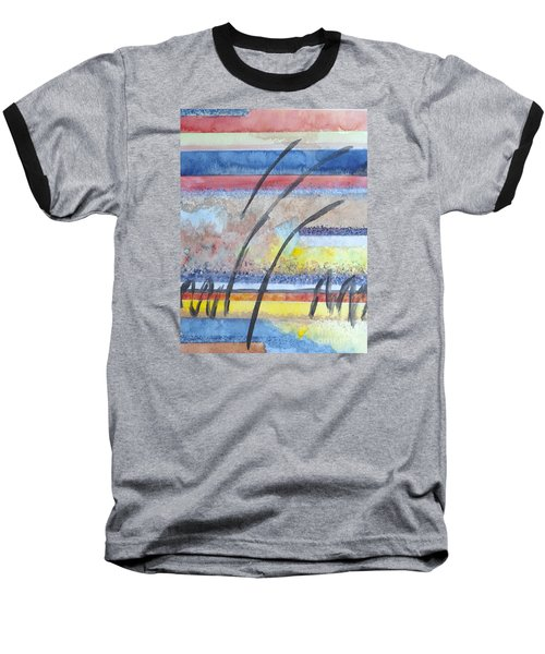 Baseball T-Shirt featuring the painting Heartbeat by Jacqueline Athmann