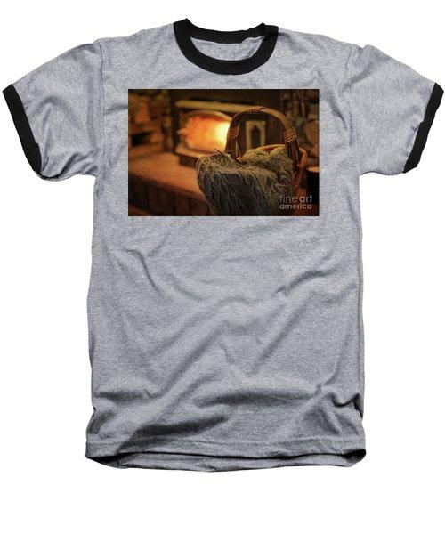 Hearth And Home Baseball T-Shirt by Nicki McManus