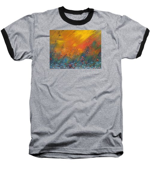 Baseball T-Shirt featuring the painting Heartland  by Dan Whittemore