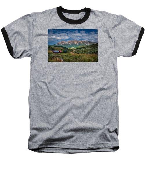 Heartland Of The Colorado Rockies Baseball T-Shirt by Michael J Bauer