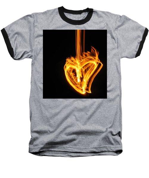 Hearts Aflame -falling In Love Baseball T-Shirt