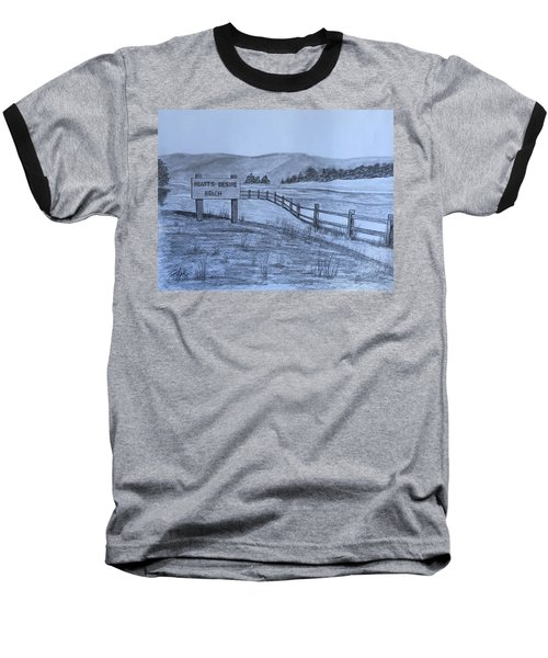 Hearts Desire Beach Baseball T-Shirt by Tony Clark