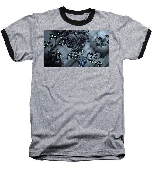Hearts N' Vines Green Baseball T-Shirt by Carol Crisafi